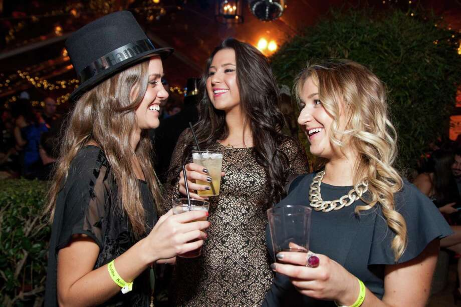 Katie Game, Ashley Davies and Caroline Woodman at the Catch Me If You Can NYE Celebration at Hotel Vitale in San Francisco on December 31, 2013. Photo: Drew Altizer Photography
