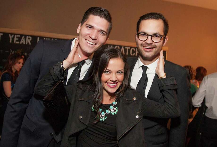 Christian Hernandez, Natalie Hernandez and Mark Gudaitis at the Catch Me If You Can NYE Celebration at Hotel Vitale in San Francisco on December 31, 2013. Photo: Drew Altizer Photography