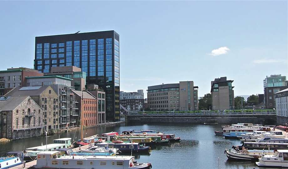 Squarespace, Dogpatch Labs and Google, above, are among the tech companies that have set up shop in these buildings in downtown Dublin. Photo: Effin Older, Special To The Chronicle