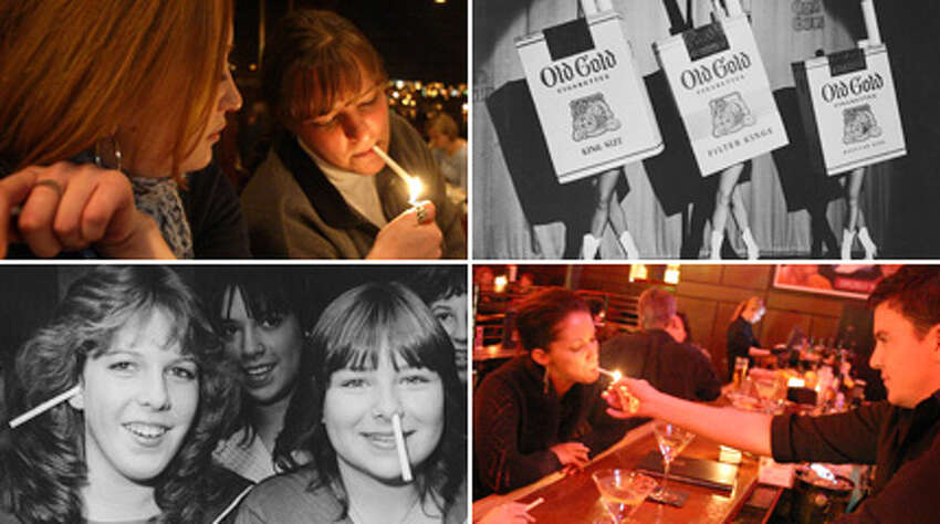 These days, no one thinks twice at the sight of smokers shivering in the cold and rain, and shunned from crowds and bustle. But smokers once puffed inside the comfort of bars and restaurants, until Washington passed the then-strictest smoking ban in the country in 2005. It was part of a gradual ostracism of smokers over the years, in which smoking rates have plunged and a once popular habit now feels unwelcome and dated. Since it has been almost 10 years since the smoking ban passed, here's a trip back to when Seattle lit up in bars, restaurants, airports and malls, with nary a complaint or dirty look.