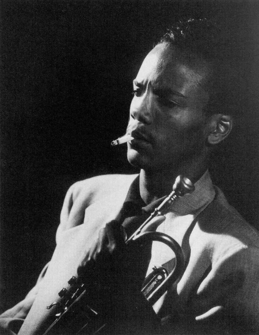 Then Quincy Jones was the conductor of the ensemble. Here he's pictured in Seattle at the age of 14, with a cigarette that he used as a prop to get into nightclubs.