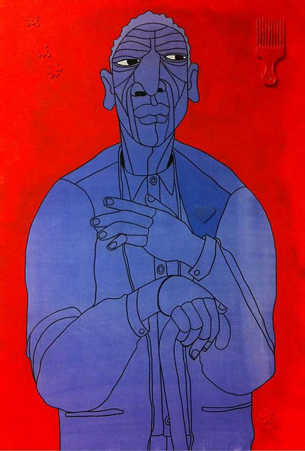 "Ajuan Mance's ""1001 Black Men #536: The Mayor of Bancroft Ave."" Photo: Courtesy Of The Artists"