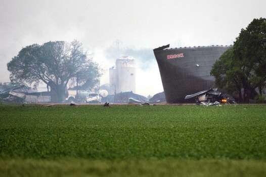 A massive explosion at the West Fertilizer Co. plant on April 18 killed 15 people and injured an estimated 300. Photo: Smiley N. Pool, Staff / © 2013  Houston Chronicle