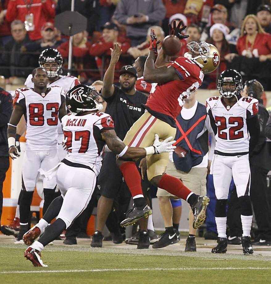 With 85 receptions, Anquan Boldin led the 49ers' receivers numerically and spiritually in his first season with the team. Photo: John Storey, For The Chronicle