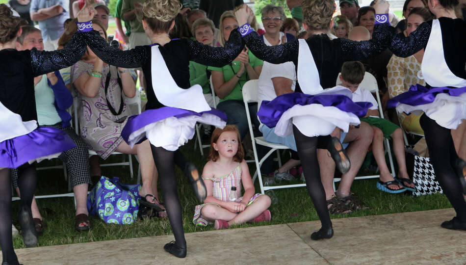 Dancers from the Sheeaun Academy of Dance perform at the 25th Anniversary Fairfield County Irish Fes