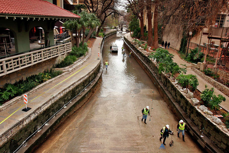 The San Antonio River was drained for maintenance from Josephine Street to Alamo Street Jan. 6-10, 2014. See what's turned up over the years, from the expected to the weird and wild. Photo: NICOLE FRUGE, San Antonio Express-News / SAN ANTONIO EXPRESS-NEWS