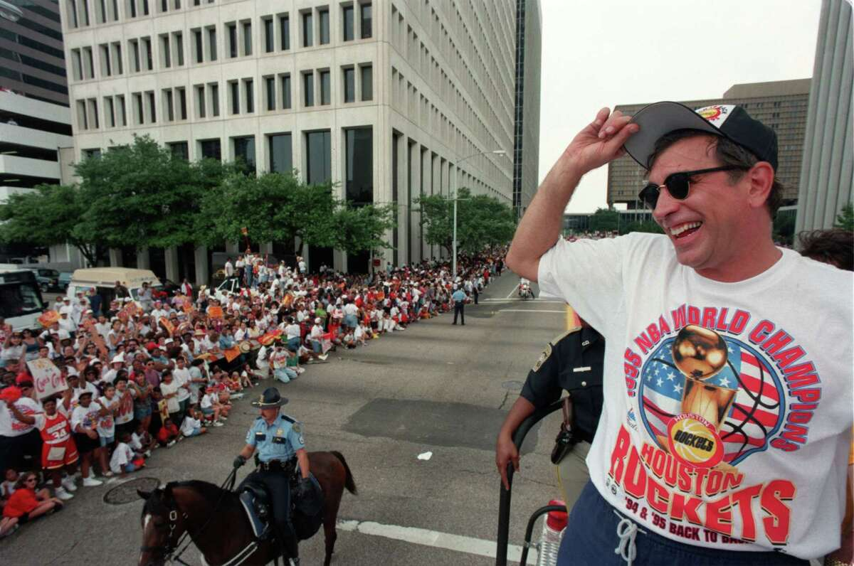When he looks back on his time in Houston, coach Rudy Tomjanovich had plenty to smile about with a pair of NBA titles.