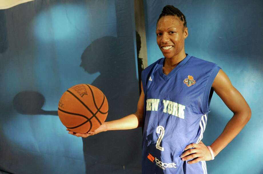 Raquel Collier, a former Schenectady High and then Delaware State standout, plans to try out for the WNBA's NY Liberty this spring on Saturday Jan. 4, 2014 in East Greenbush, N.Y. (Michael P. Farrell/Times Union) Photo: Michael P. Farrell / 00025236A