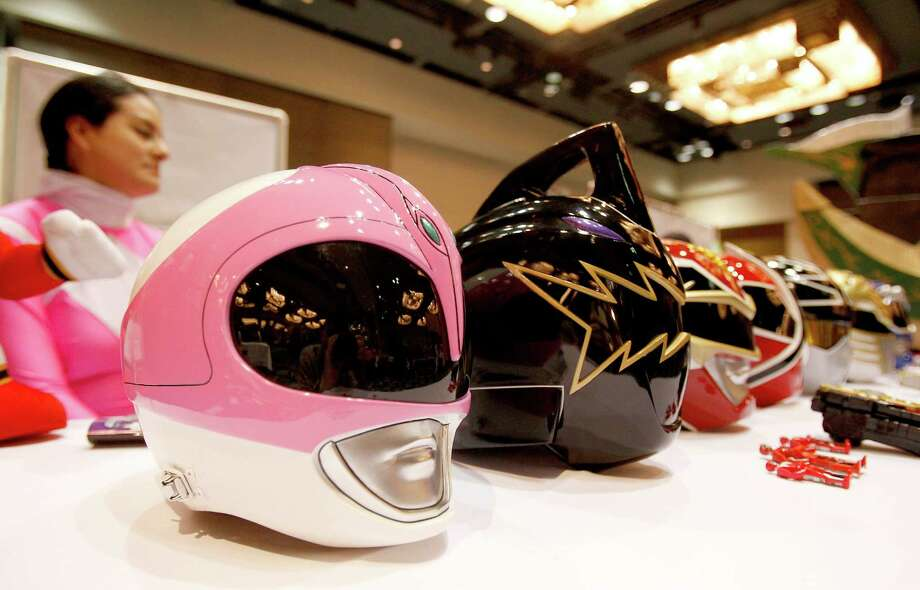 Power Ranger helmets on display at Space City Con held at  Moody Gardens Hotel, Spa and Convention Center, in Galveston, Texas. Photo: Thomas B. Shea, The Houston Chronicle / © 2014 Thomas B. Shea