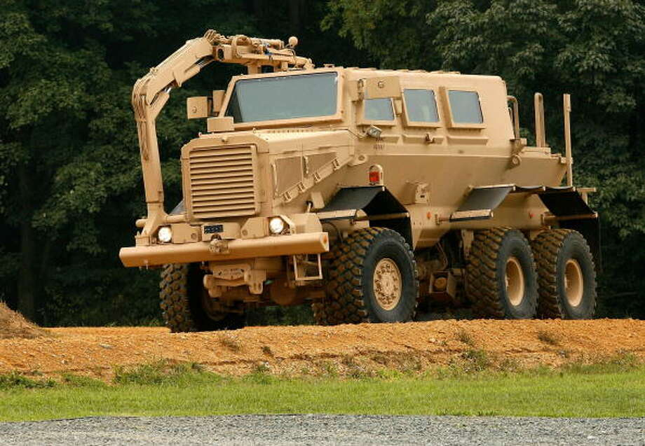 Buffalo  Mine resistant ambush protected armored vehicle Army and Navy Manufactured by Force Protection Industries Standard capacity: Six crew or passengers  Two versions 2004 – present Photo: Chip Somodevilla, Getty Images / 2007 Getty Images