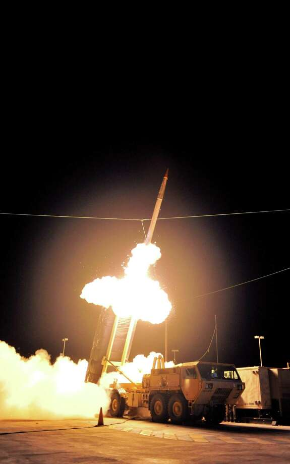 Terminal High Altitude Area Defense - THAADAnti-ballistic missile system vehicle Army  Manufactured by  Lockheed Martin Space Systems  2008 – present Photo: Anonymous, AP Photo / AP2011