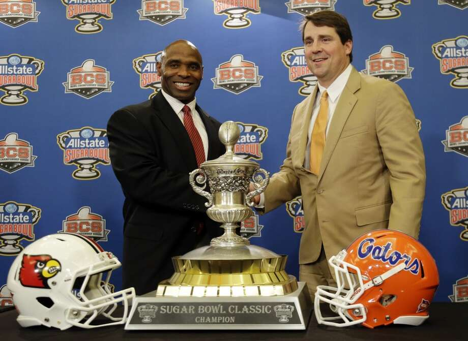 On Jan. 2, 2013, Strong's team defeated Florida and former UT defensive coordinator and coach-in-waiting Will Muschamp in the Sugar Bowl. Photo: Bill Haber, Associated Press