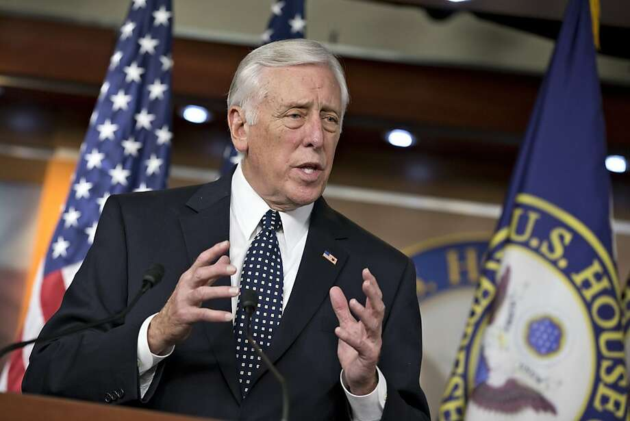 FILE - In this Dec. 5, 2013 file photo House Minority Whip Steny Hoyer of Md. speaks during a news conference on Capitol Hill in Washington. Congress returns to work on Jan. 6, 2014, with election-year politics certain to shape an already limited agenda. (AP Photo/J. Scott Applewhite, File) Photo: J. Scott Applewhite, Associated Press