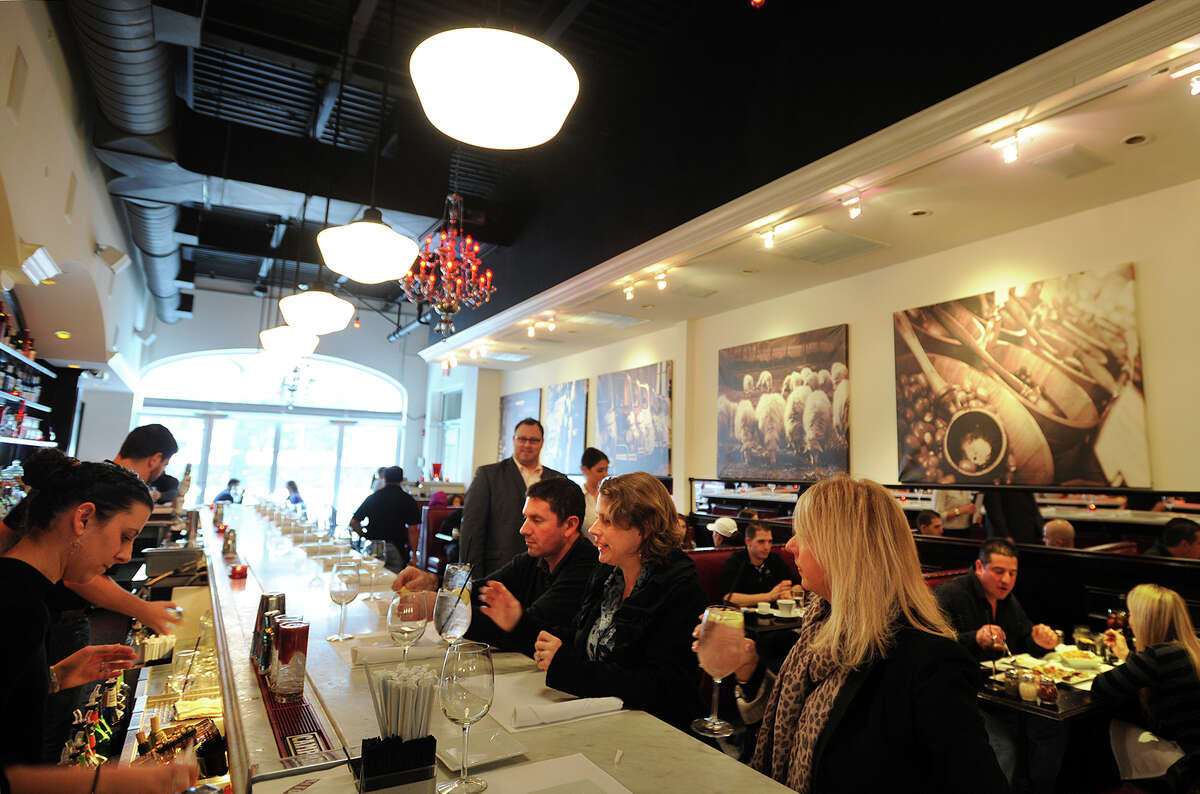 The popular Molto at 1215 Post Road in Fairfield even draws a decent crowd in foul weather on Sunday, January 5, 2014. Fairfield County has the second highest number of restaurants per capita of any region in the nation, trailing only San Francisco, California.