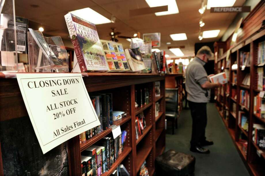 The Bank Street Book Nook in New Milford will soon close its doors. Photo: Carol Kaliff / The News-Times