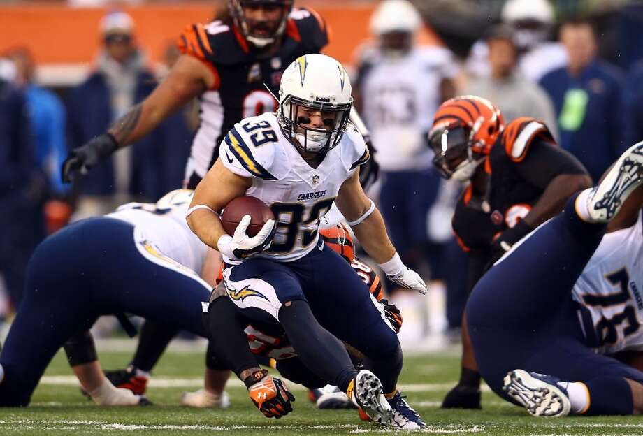 Chargers running back Danny Woodhead rushed for 54 yards a touchdown in the victory. Photo: Andy Lyons, Getty Images