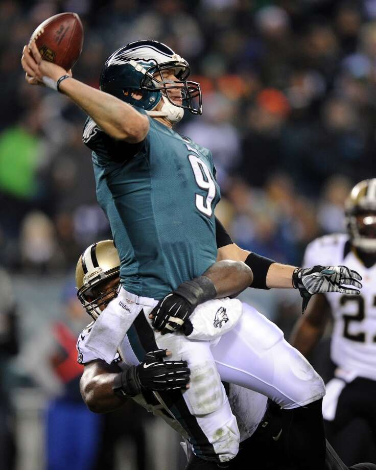 Wild Card Round Jan. 4: Saints 26, Eagles 24  Nick Foles throws a pass against the Saints. Photo: Maddie Meyer, Getty Images
