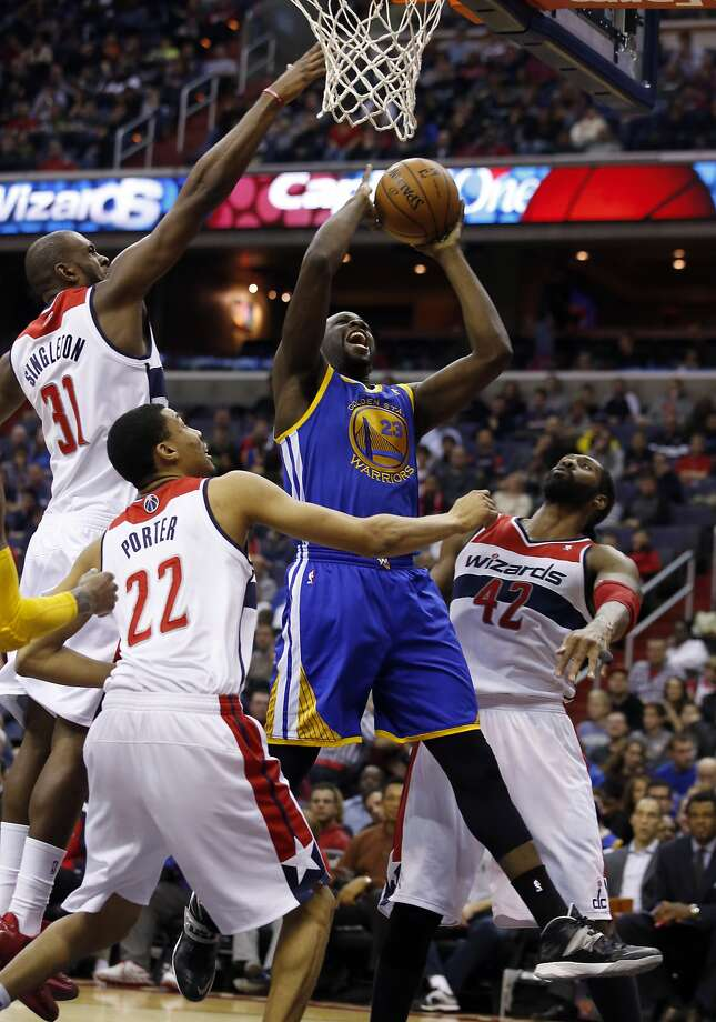 Warrios Mid-season Report Card: A:Draymond Green gets an A for effort as well as doubling most of his stats in the first half of the season. Photo: Alex Brandon, Associated Press