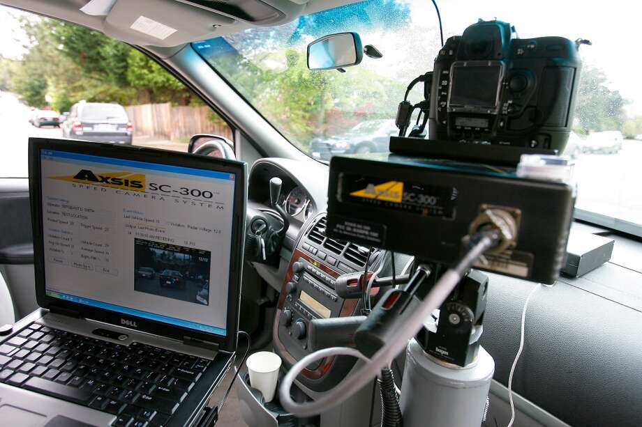 "Q: Can cops really still get an accurate radar account of your vehicle speed while they are driving from the opposite direction while pointing the radar gun?  A: Yes.  ""It's called a moving radar,"" State Patrol Sgt. J.J. Gundermann said. ""The radar in the patrol car calculates the patrol car's speed and the speed of a vehicle either approaching from the opposite direction or another vehicle approaching from the rear."" Photo: Gilbert W. Arias, Seattlepi.com File"