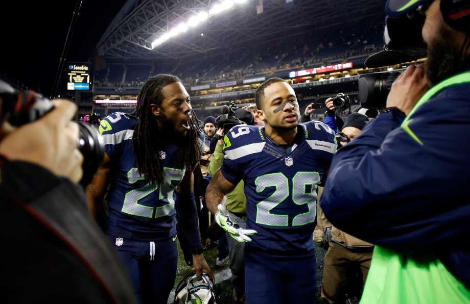Who are the Seattle Seahawks' regular-season MVPs?  With the NFL's wild-card weekend about to begin, it's time to look back at a special regular season for the Seattle Seahawks. At 13-3, this year's Hawks tied their Super Bowl-bound 2005 counterparts for the best record in franchise history, while also wrapping up the franchise's sixth NFC West division title and the No. 1 playoff seed in the NFC.  The offense, led by quarterback Russell Wilson and running back Marshawn Lynch, struggled at times due to injuries and uneven play that plagued the offensive line, and finished ranked No. 17 in total offense. But the unit made very few mistakes and consistently put themselves in position to win games time and time again.  But let's not kid anybody. Seattle's defense was the real story of this team, with the Legion of Boom secondary and the rest of the Seahawks claiming the No. 1 spot for total defense, scoring defense, passing yards allowed and interceptions. First-team All-Pros Richard Sherman, Earl Thomas and the rest put together a historically great season that has many experts predicting a Super Bowl berth for Seattle.  But who is your choice for the most valuable Seahawks player this season? Click to see our nominees, then vote in our polls below. If your selection for MVP wasn't nominated, tell us in the comments section below why he deserves a spot. Photo: Otto Greule Jr, Getty Images