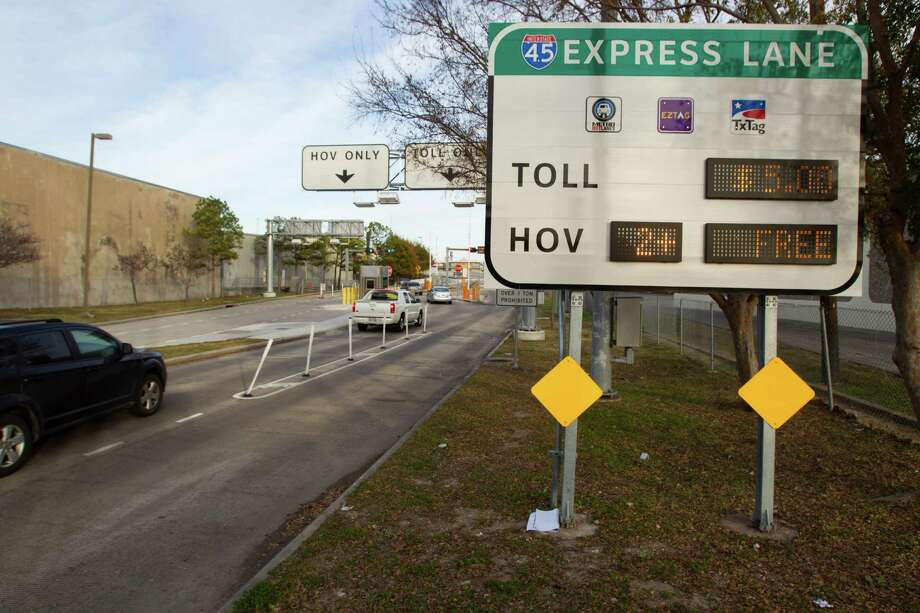 Metro estimates that uncollected funds from its High-Occupancy Toll lanes total about $740,000, and current rules and regulations make collecting that money difficult. Photo: Brett Coomer, Staff / © 2014 Houston Chronicle