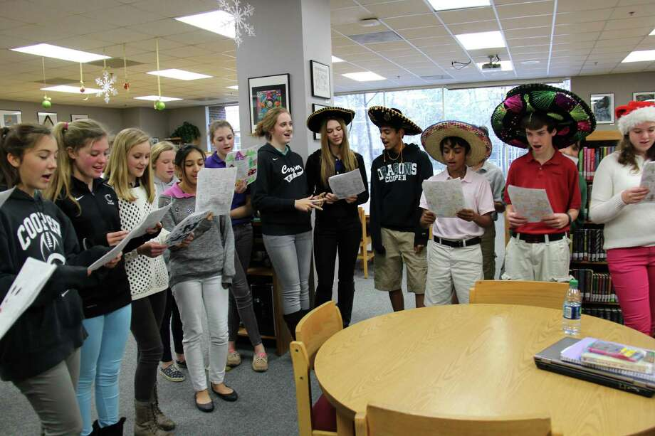 John Cooper School students sing holiday songs in Spanish. Photo: John Cooper School Photo
