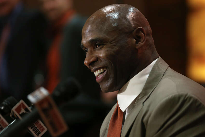 University of Texas Head Football Coach Charlie Strong speaks a press conference at the campus in Austin, Monday, Jan. 6, 2014. Strong, 53, formerly University of Louisville coach, took the job Sunday night replacing Mack Brown.