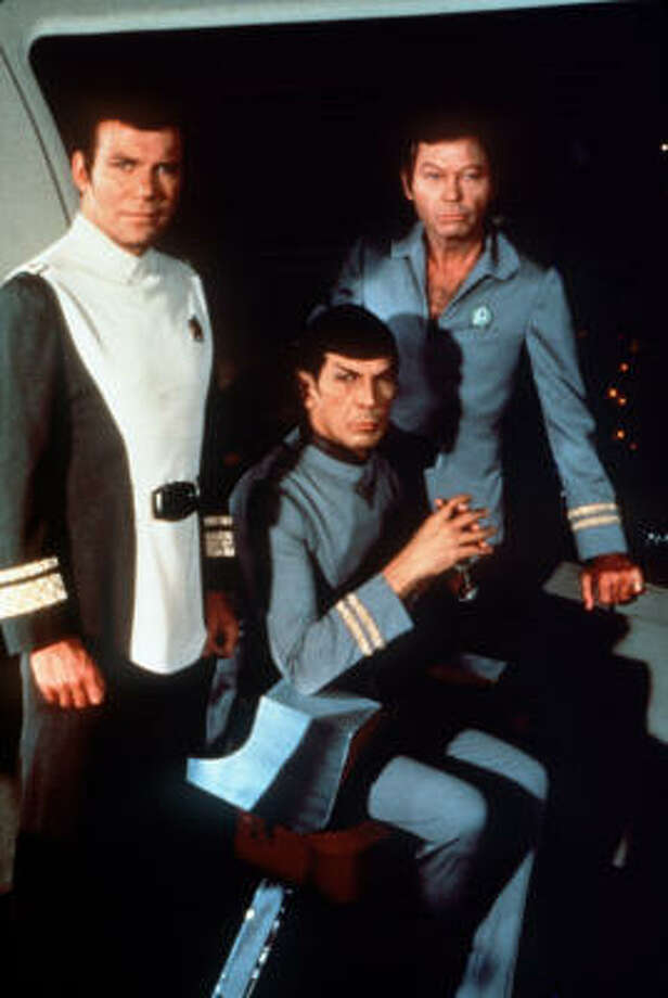 "William Shatner and Leonard Nimoy star as Kirk and Spock in the first of the 'Star Trek"" movies. Photo: Paramount Pictures"