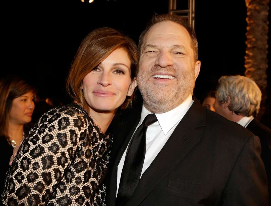 Actress Julie Roberts and producer Harvey Weinstein arrive at the 25th annual Palm Springs International Film Festival awards gala at Palm Springs Convention Center on January 4, 2014 in Palm Springs, California.  (Photo by Jeff Vespa/Getty Images for PSIFF) Photo: Jeff Vespa, Getty Images For PSIFF