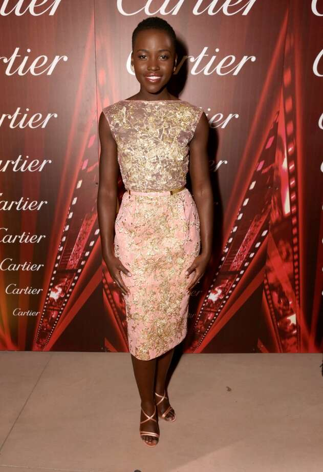 Actress Lupita Nyong'o arrives at the 25th annual Palm Springs International Film Festival awards gala at Palm Springs Convention Center on January 4, 2014 in Palm Springs, California.  (Photo by Jeff Vespa/Getty Images for PSIFF) Photo: Jeff Vespa