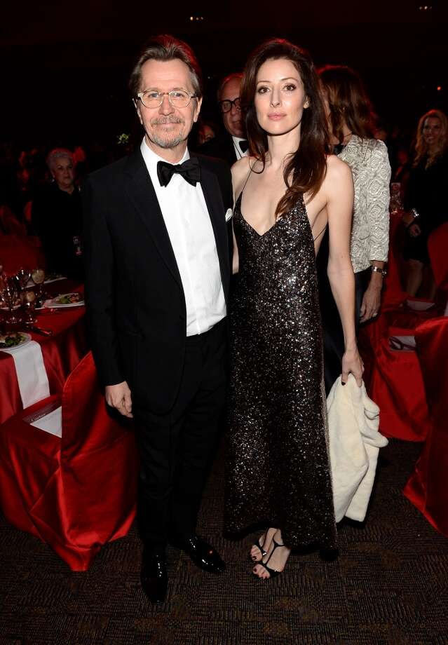 Actor Gary Oldman and Alexandra Edenborough attend the 25th annual Palm Springs International Film Festival awards gala at Palm Springs Convention Center on January 4, 2014 in Palm Springs, California.  (Photo by Michael Buckner/Getty Images for PSIFF) Photo: Michael Buckner, Getty Images For PSIFF