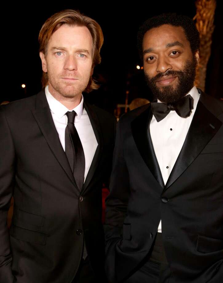 Actors Ewan McGregor (L) and Chiwetel Ejiofor arrive at the 25th annual Palm Springs International Film Festival awards gala at Palm Springs Convention Center on January 4, 2014 in Palm Springs, California.  (Photo by Jeff Vespa/Getty Images for PSIFF) Photo: Jeff Vespa, Getty Images For PSIFF