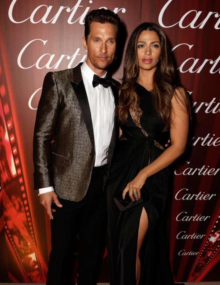 Actor Matthew McConaughey (L) and model Camila Alves-McConaughey arrives at the 25th annual Palm Springs International Film Festival awards gala at Palm Springs Convention Center on January 4, 2014 in Palm Springs, California.  (Photo by Jeff Vespa/Getty Images for PSIFF) Photo: Jeff Vespa