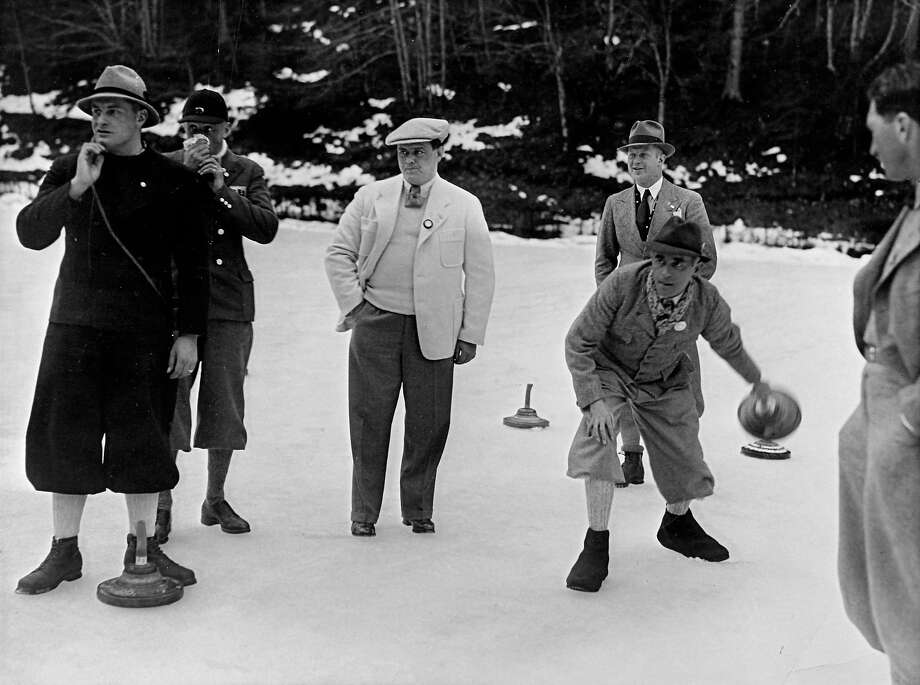 Ice stock sport — demonstration events in 1936 and 1964A Bavarian form of curling, this was only held twice, at the Winter Olympics in Germany and Austria, obviously.  Photo: Imagno, Getty Images / 2013 Imagno