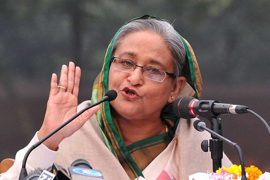 Prime Minister Sheikh Hasina's party easily won the election, which was boycotted by the opposition. Photo: Str, AFP/Getty Images