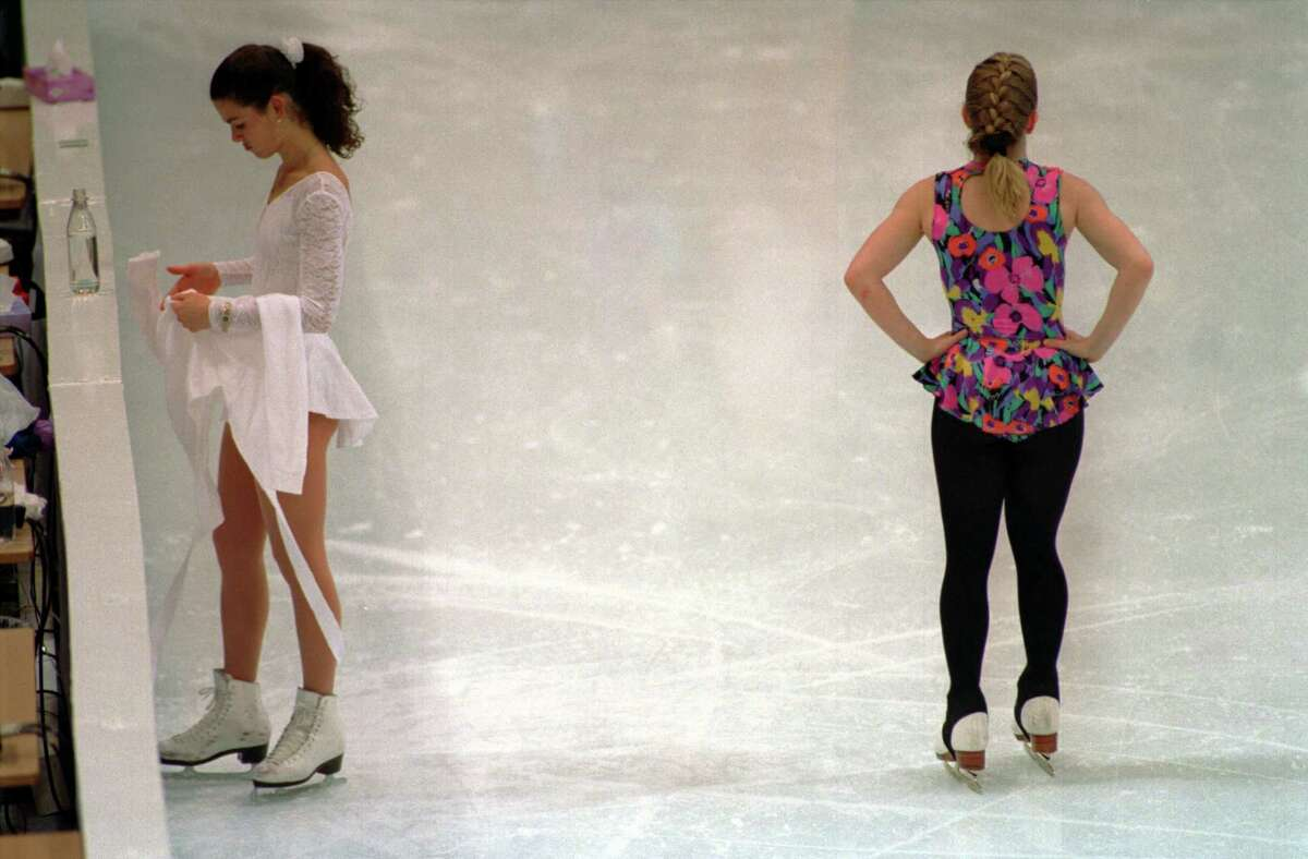 It made normal look strange when Nancy Kerrigan and Tonya Harding shared the ice during the 2004 Olympics, as they did here on Feb. 17, 1994.