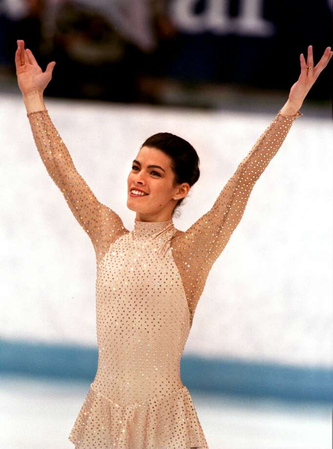 Kerrigan, however, was triumphant. Here she acknowledges the crowd her her performance on Feb. 25, 1994. She won the silver medal. Photo: Chris Cole, Getty Images / Getty Images Europe