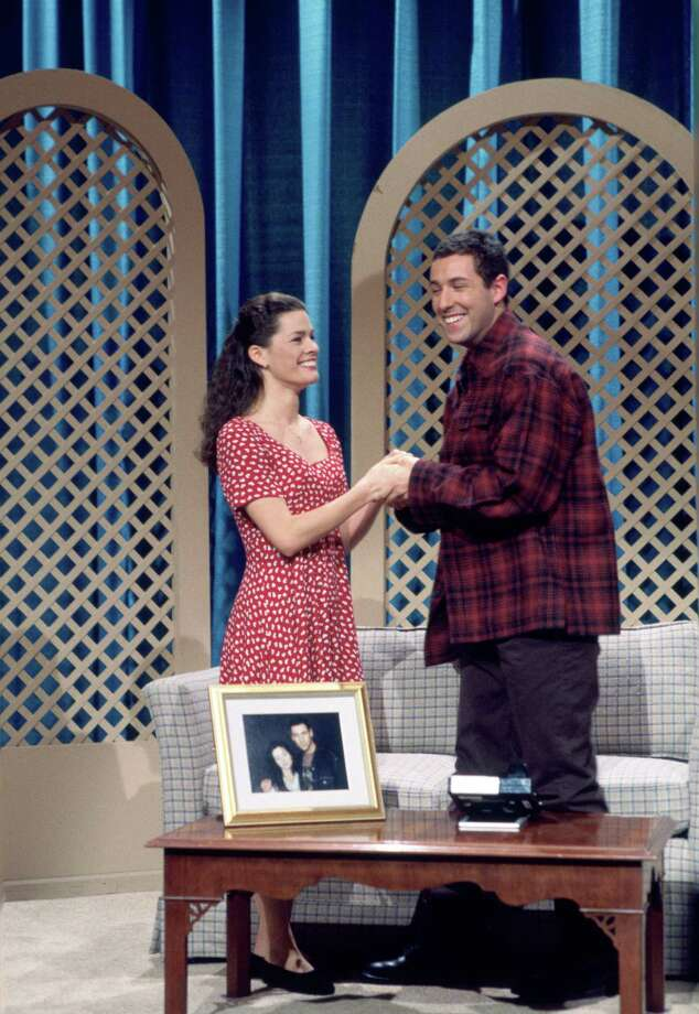 "Kerrigan, meanwhile, had other professional options. A month after the Olympics. She was on ""Saturday Night Live."" Here she appears with Adam Sandler during ""The Denise Show"" skit on March 12, 1994. Photo: Alan Singer, Getty Images / © NBC Universal, Inc."
