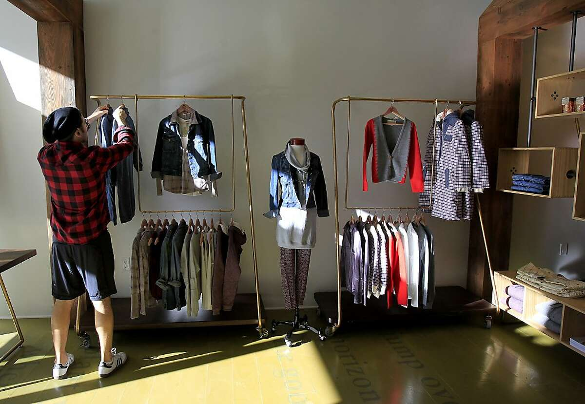 Designers and employees readied the store Alternative for its opening soon Monday December 9, 2013 in San Francisco, Calif. A new shop called Alternative is opening in San Francisco's Hayes Valley which features organic and sustainable apparel and accessories including jewelry.