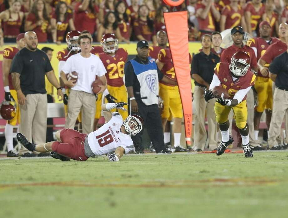 Dion Bailey  Position: Safety  School: USC Photo: Stephen Dunn, Getty Images