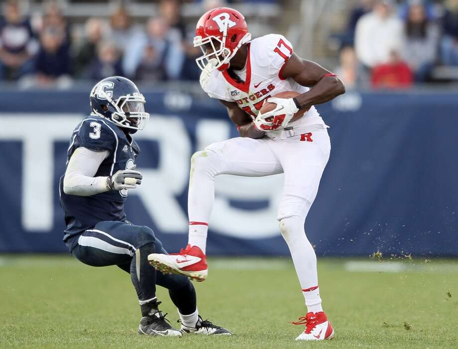 Brandon Coleman  Position: Wide receiver  School: Rutgers Photo: Elsa, Getty Images