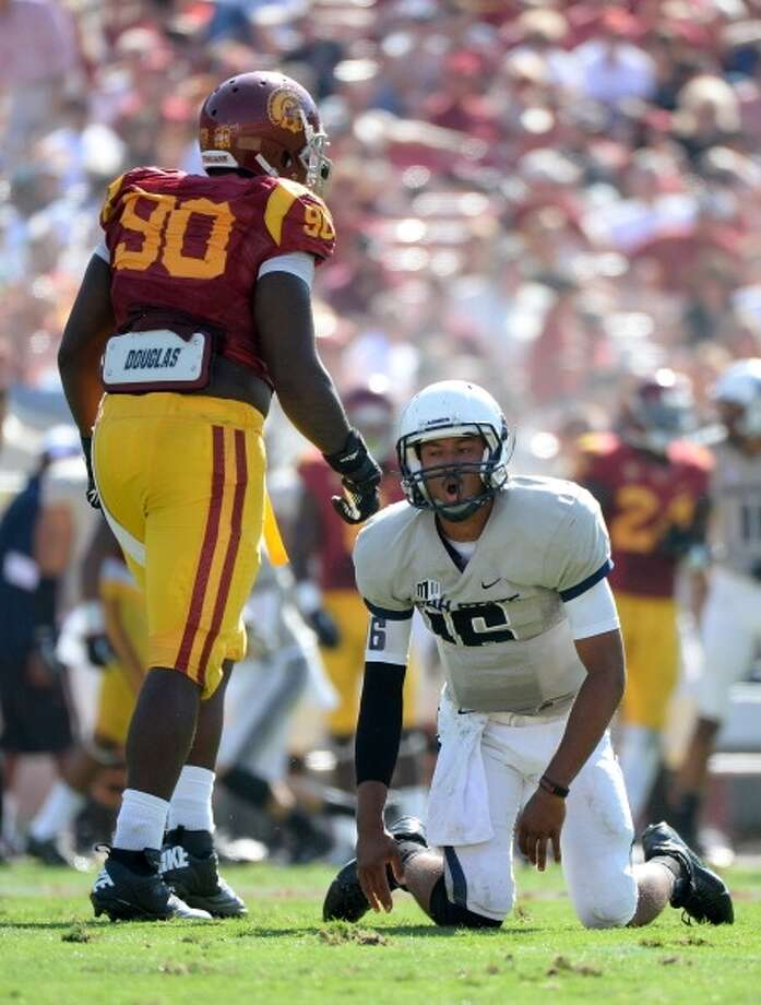 George Uko  Position: Defensive lineman  School: USC Photo: Harry How, Getty Images