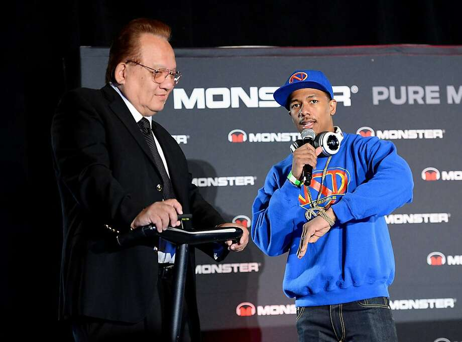 Nick Cannon (right) will co-produce two shows with Monster Cable, with one featuring founder Noel Lee. Photo: Ethan Miller, Getty Images