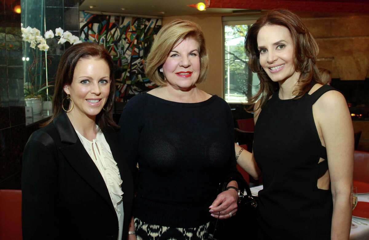 Elizabeth Petersen, from left, Julia Frankel and Lechin at the celebratory pre-luncheon for the Houston Chronicle's Best Dressed in 2011.