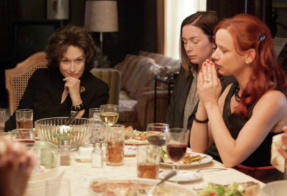 "Meryl Streep, from left, Julianne Nicholson, and Juliette Lewis star in the film adaptation of the play ""August: Osage County."""