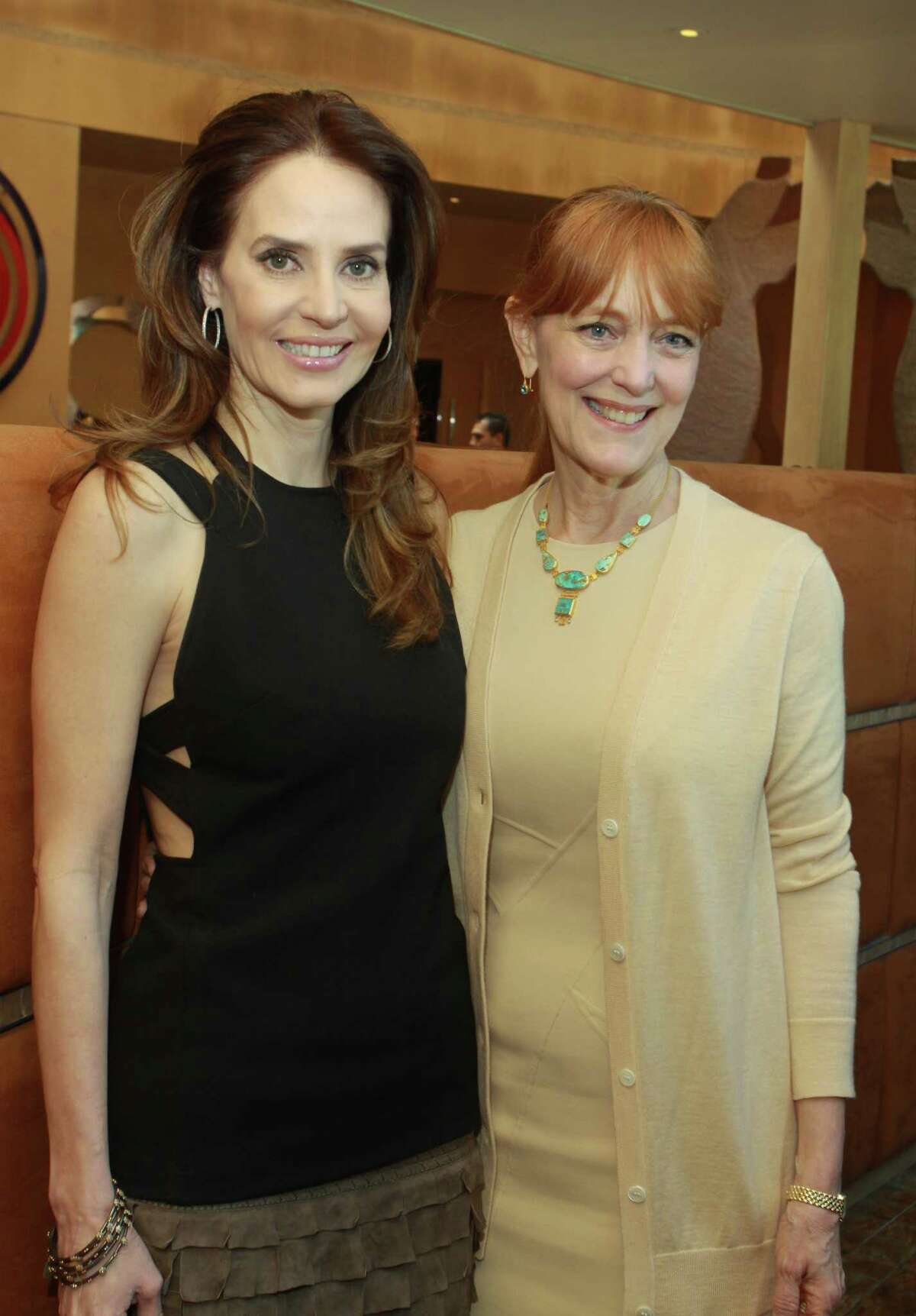 Lechin, left, and Gracie Cavnar at the celebratory pre-luncheon for the Houston Chronicle's Best Dressed in 2011.