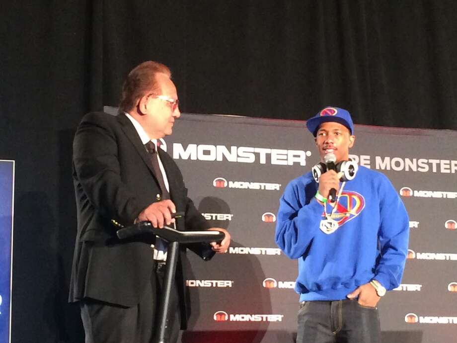 Head Monster Noel Lee with actor Nick Cannon at 2014 International CES Photo: Benny Evangelista, The Chronicle