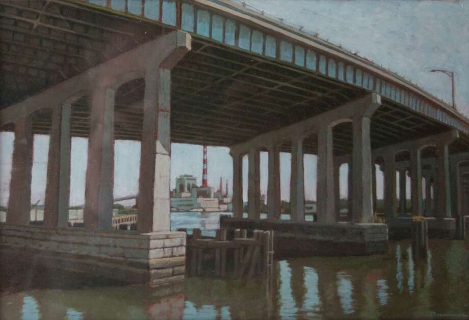 """Bridge Over the Pequonnock River,"" by Tom Brenner of Fairfield, will be featured in ""Barnum Redux,"" a Bridgeport-centric exhibition that runs Jan. 16-Feb. 13 at City Lights Gallery. The show focuses on P.T. Barnum and iconic images of Bridgeport. Photographs by Brenner's 16-year-old son, Aaron, also are in the show. Photo: Contributed Photo / Connecticut Post Contributed"