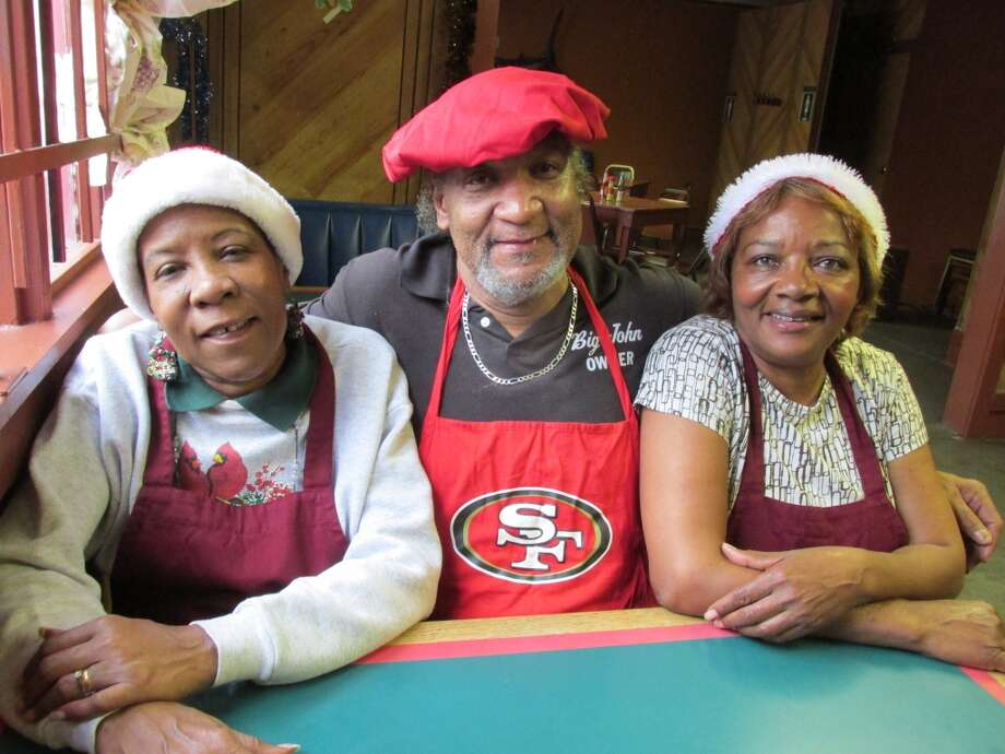 Behind the counter at Big John's Grill: Toni Johnson, John Traylor and Elaine Jackson. Grace Mathis/cat5