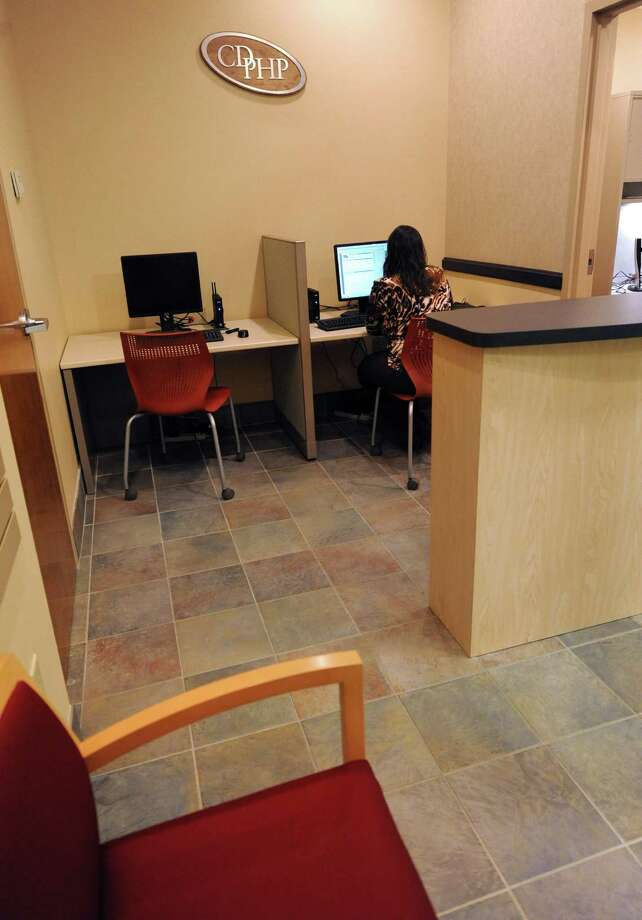 Office of the CDPHP Service Center located in the Capital Region Health Park at 711 Troy-Schenectady Road on Monday, Jan. 6, 2014 in Colonie, N.Y. The new center provides on-site answers to health care questions and assistance navigating the Affordable Care Act and the NY State of Health website. Visitors can meet face-to-face with a CDPHP representative, order new ID cards, ask questions about their benefits, find a doctor, schedule an appointment, and purchase health care coverage. (Lori Van Buren / Times Union) Photo: Lori Van Buren / 00025260A
